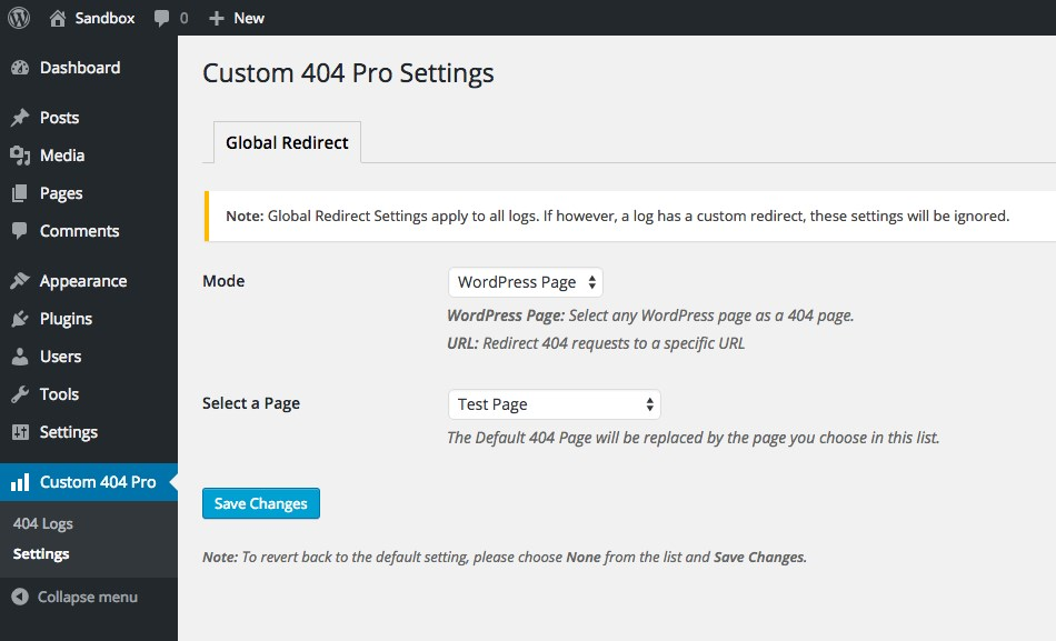 """Custom 404 Pro WordPress plugin"